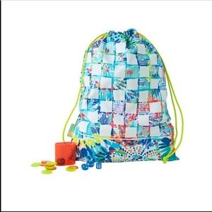 Lilly Pulitzer Game Board Drawstring Back Pack